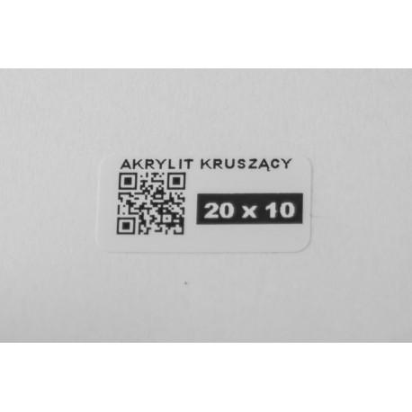 Plomba gwarancyjna akrylit 20x10 mm